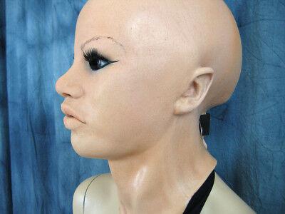 Latexmaske MAYLEE B +WIMPERN - Real. weibliche Frauenmaske Gummi Crossdresser 9