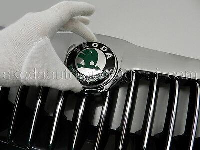 2x Folie Carbon blau passend für alle alten Skoda 90mm Emblem viele Modelle