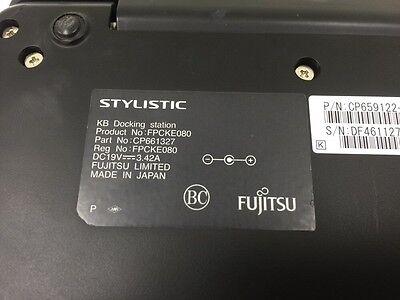 for Fujitsu Stylistic Q704 Tablet US Keyboard Docking Station FPCKE080 No AC Adapter Used