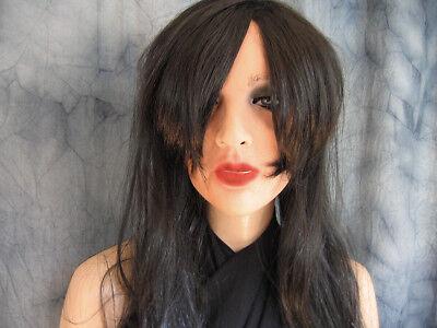 Frauemaske MARILYN +WIMPERN +PERÜCKE - Real. weibliches Latex Frauengesicht Girl