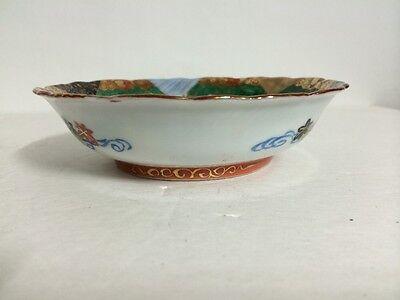 Set of 2 Antique Old Japanese Kutani Ware Porcelain Bowl Painted Gilt Signed NR! 4