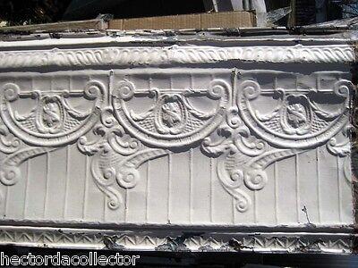 SALE Antique Victorian Ceiling Tin Tile Nouveau Pie Cupboard Chic Torch Fleur De 5