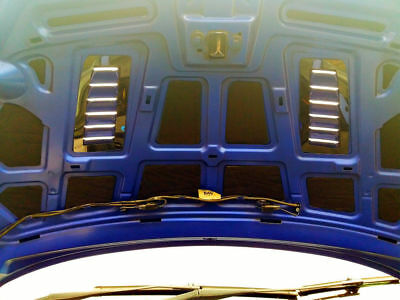 Focus RS MK2 style ABS plastic bonnet vents *FORD PROFILE* universal Exact OE 12