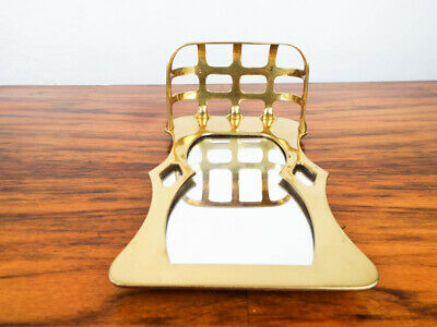 Vintage Arts & Crafts Style Mott Antique Wall Mount Soap Dish and Mirror Gold 11