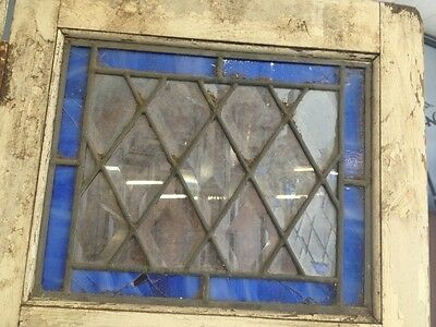 Old Wooden Shutters With Leaded Stained Glass 7