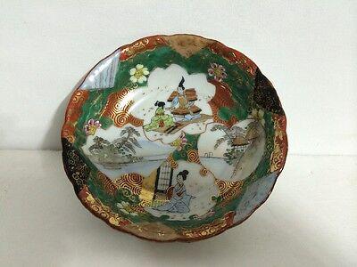 Set of 2 Antique Old Japanese Kutani Ware Porcelain Bowl Painted Gilt Signed NR! 2