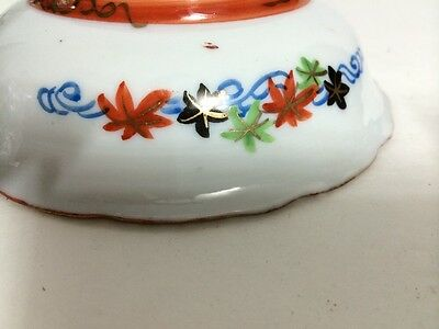 Set of 2 Antique Old Japanese Kutani Ware Porcelain Bowl Painted Gilt Signed NR! 8