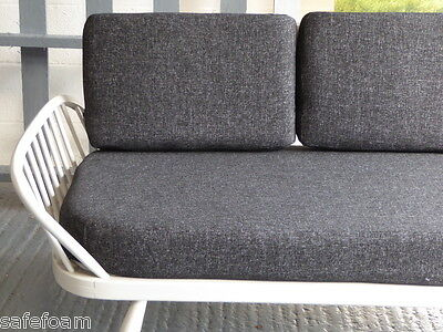 Cushions & Covers Only. Ercol Studio Couch/Daybed.  Charcoal Grey Stitch 3