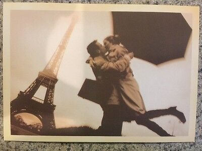 Love Eiffel Tower 71K Collection of 3 New Glossy Paris Postcards Romance