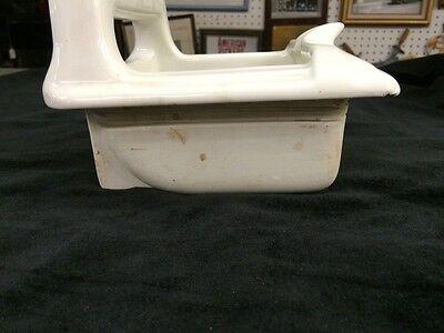 TEPEGO Vintage White Porcelain Ceramic Tile Soap Dish Grab Bar Bathroom in wall 6