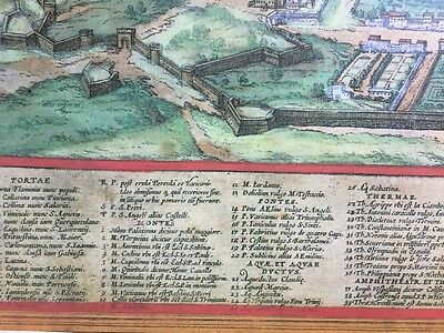 Old Antique Historic Map Rome, Italy: 1572 by Braun & Hogenberg REPRINT 1500's 6