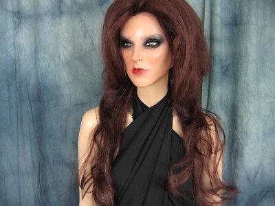 Latexmaske KEIRA +WIMPERN +PERÜCKE Real. Frauenmaske Gesicht Trans Crossdresser