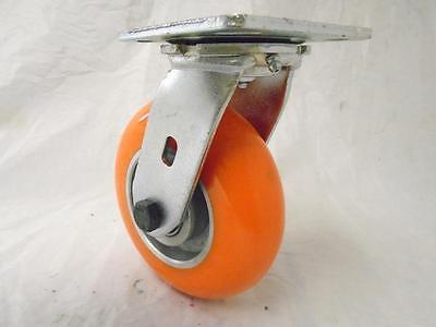"4 6/"" x 2/"" Kingpinless Swivel Caster apex Polyurethane Wheel 1200lbs ea.Tool Box"