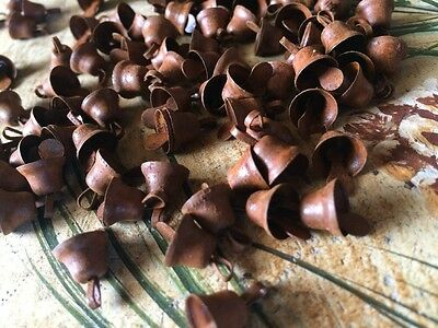 """Primitive Rusty Tin JINGLE BELLS 10mm 3//8 in 3//8/"""" Christmas Crafts 96"""