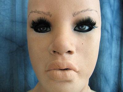 Latexmaske MAYLEE B +WIMPERN - Real. weibliche Frauenmaske Gummi Crossdresser 5