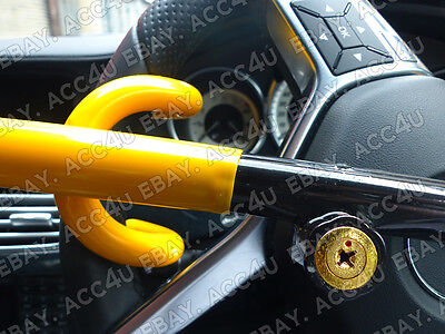 For Mercedes Benz Car Double Claw Anti Theft Security Yellow Steering Wheel Lock 8