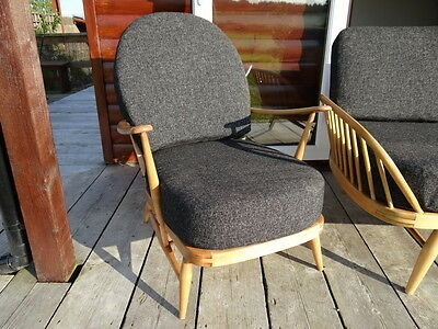 Cushions & Covers Only. Ercol 203 Chair. Charcoal Grey Stitch 7
