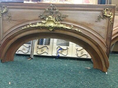 Arched Wood Doorway Insert With Bronze Detail 5