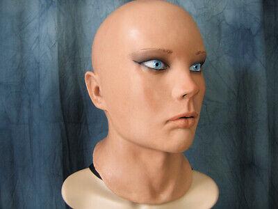 Latexmaske LIV STARLET +AUGEN Real. Frauenmaske Gummi Frau Zofe Trans Swinger 4