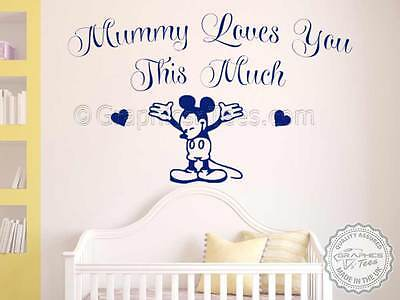 Nursery Wall Sticker Quote Mickey Mouse Baby Boy
