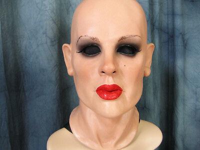 Latexmaske KATE - Real. weibliche Frauenmaske Frauengesicht Gummi Crossdresser 2