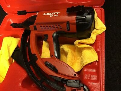 3 Of 12 Hilti Gx 100 Gas Powered Actuated Nail Gun, Preowned, Free Thermo,  Fast Ship