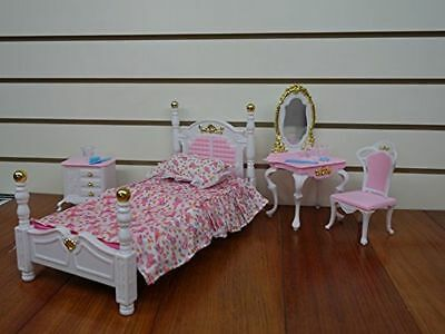 My Fancy Life Barbie Size Dollhouse Furniture Bed Room & Beauty Play Set 2