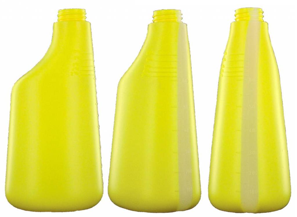 DW Nachfüllflasche 600 ml Gelb Sprühflasche Zerstäuber Leerflasche Druckflasche 2
