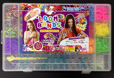 Large Rainbow Loom Band case kit 5400 Bands Board Loom hooks clips+Free charms 3