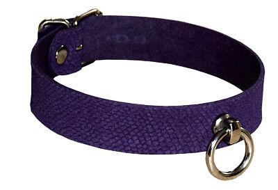 BDSM Halsband Lederhalsband Halsfessel mit O-Ring Bondage-Halsband neu 3