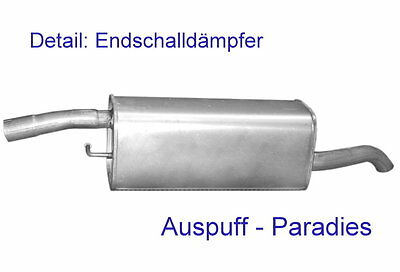 Endtopf Auspuff Schalldämpfer Auspuffanlage Abgasanlage Rohr Ford Transit neu