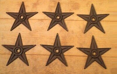 "Center Hole Texas Star Rustic Cast Iron X-Large Decor 9"" (Single) 0170-02105 6"