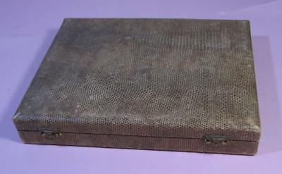 Vintage 12 Piece Silver Cake FORK / KNIFE  Snakeskin Case - Arthur Price England
