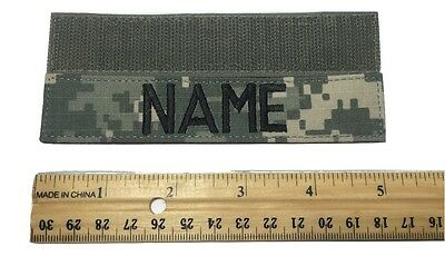 "ACU  Custom Name Tape with Fastener 1""x 5"" Length - US Army Military"