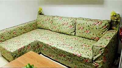 Brilliant Custom Made Cover Fits Ikea Manstad Sofa Bed With Chaise Short Links Chair Design For Home Short Linksinfo