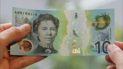 💫1x Rare Last Prefix EA notes 2017 Australia $10 Dollar Note Ten Uncirculated💫