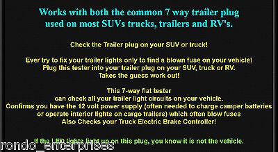 Outstanding Set 7 Way Rv Plug 4 Way Flat Trailer Wiring Tester Ez Check Wiring Cloud Venetbieswglorg
