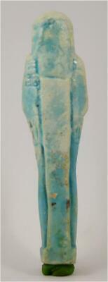Egypt Late period 26-30th dynasty blue glazedshabti of Hor-Ankh 2