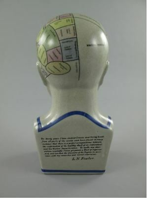 Fowler Porzellankopf BLAU H. 30 cm Arzt & Apotheker Vintage Ästhetik Geschenk