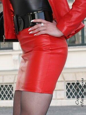 8772d44beb8bfc LEDERROCK LEDER ROCK Rot Mini Hüftrock Größe 32 - 58 XS - XXXL - EUR ...