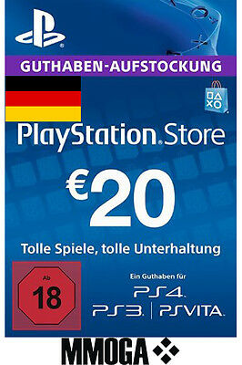 20 EURO PlayStation Guthaben Key - 20€ Eur PSN Network Code PS3 PS4 PS Vita - DE 4