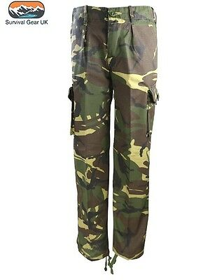 KAS Kids Army Camouflage Multi Pocket Combat Children Military Trousers New