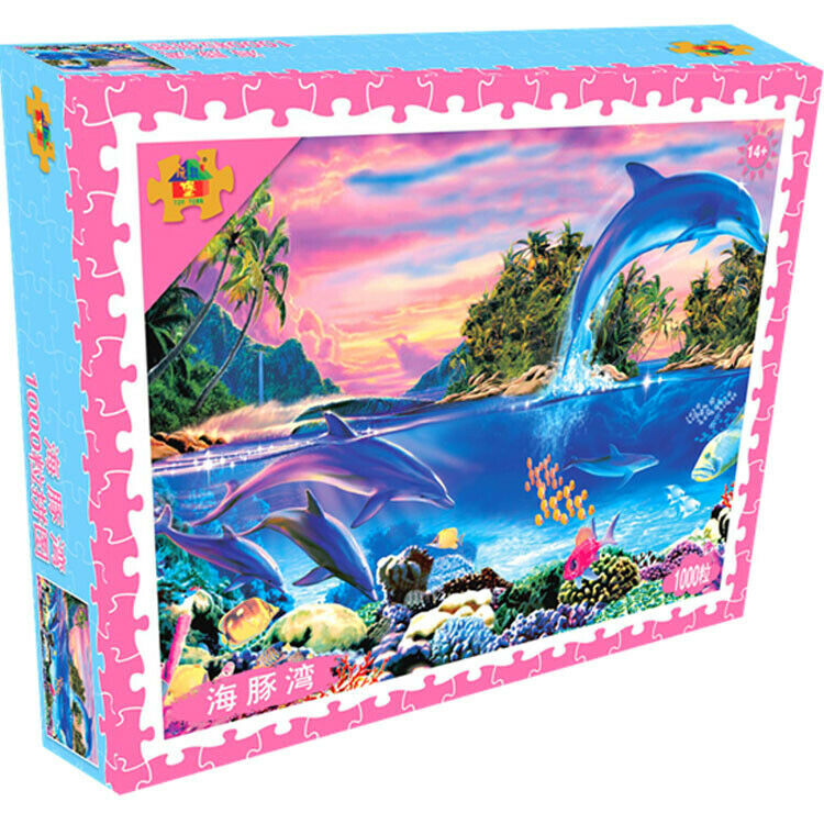 Adult 1000 Piece Large Cardboard Jigsaw Puzzle Decompression Game Toy Difficulty 7