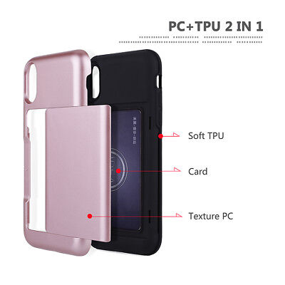 Fits Apple iPhone Case Protective Wallet ID Credit Card Holder Shockproof Cover 11