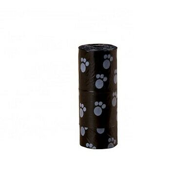 60 (4 rolls) Large strong dog poo bags, eco friendly, paw print design 2