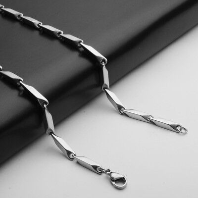 3mm Wholesale 316L Stainless Steel Rhombus Square Chains Necklace 18''-28'' 2