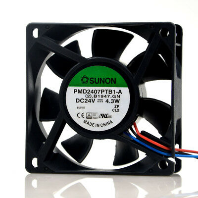 For SUNON PMD2407PTB1-A Inverter cooling fan DC24V 4.3W 70x70x25mm 3pin 3
