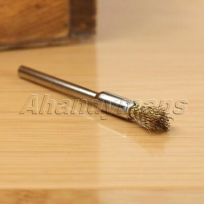 15pcs 5mm Brass Wire Brushes Wheel For Grinder Drill Rust Weld Power Rotary Tool 11