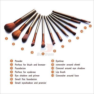 12pcs Makeup Cosmetic Brushes Set Powder Foundation Eyeshadow Lip Brush Tool 9