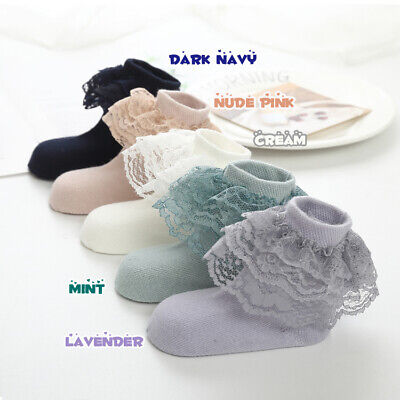 Girls Kids Children Lovely Frilly Lace Ankle Wedding Party School Socks 2-12y 2